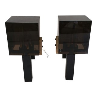 Mid-Century Modern Lucite Wall Sconces - Pair