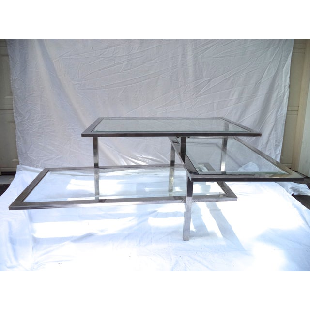 Mid-Century 3-Tiered Chrome Coffee Table - Image 2 of 4