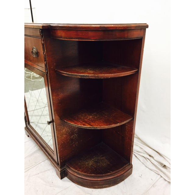 Vintage Mahogany Mirrored Console Chest - Image 6 of 11