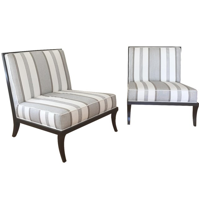Jacque Garcia Slipper Chairs - A Pair - Image 1 of 8