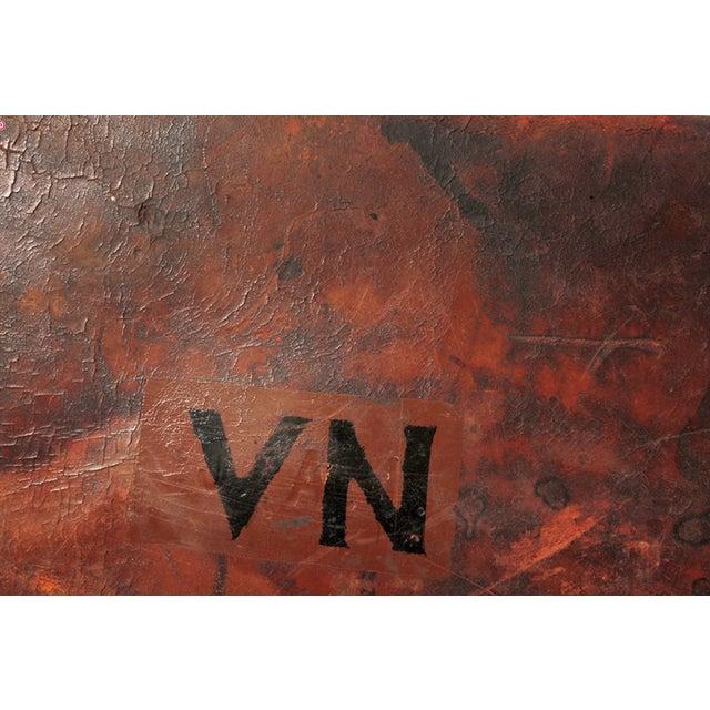 Vintage English Leather Suitcase - Image 3 of 4