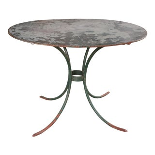 OVAL ZINC TOPPED FRENCH GARDEN TABLE CIRCA 1920