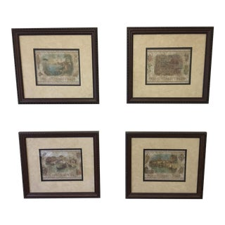 Italian Scene Pictures - Set of 4