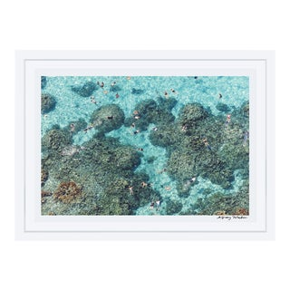 "Gray Malin ""The Reef, Bora Bora"" (à La Plage) Framed Print"