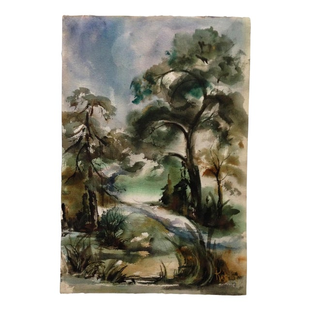 Edna Leventhal Kessler Watercolor - Image 1 of 5