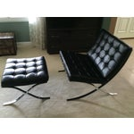 Image of Leather Barcelona Chair & Ottoman by Alivar