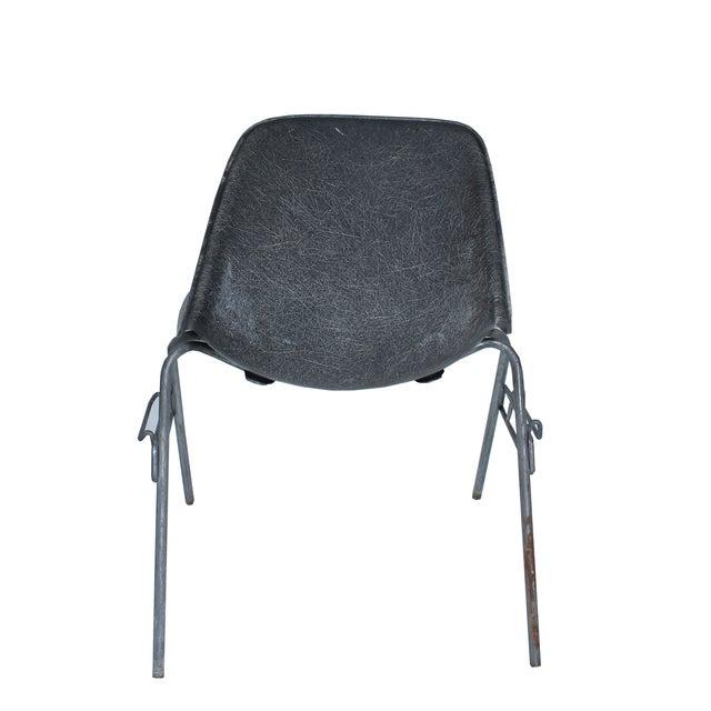 herman miller for eames vintage gray side chair chairish. Black Bedroom Furniture Sets. Home Design Ideas