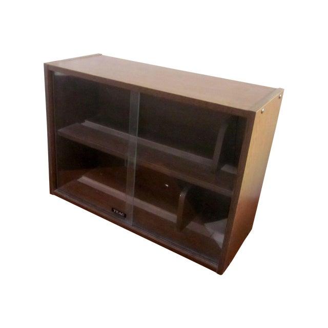 Vintage teac wood cd cabinet chairish
