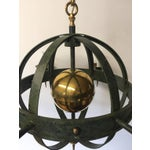 Image of Vintage Spherical Iron and Brass Sputnik Chandelier