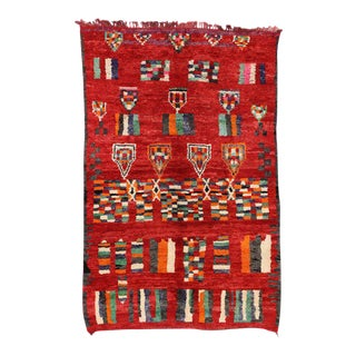 Vintage Berber Red Moroccan Rug,