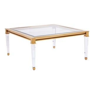 Blink Home Square Gold Cocktail Table