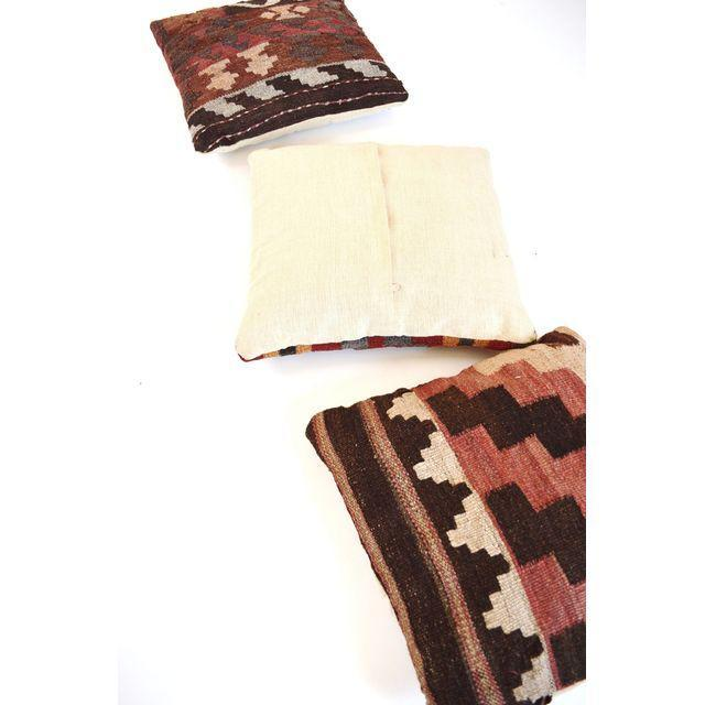 Turkish Kilim Pillows - Set of Three - Image 5 of 5