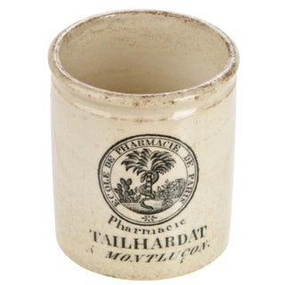 Vintage French Pharmacy Crock