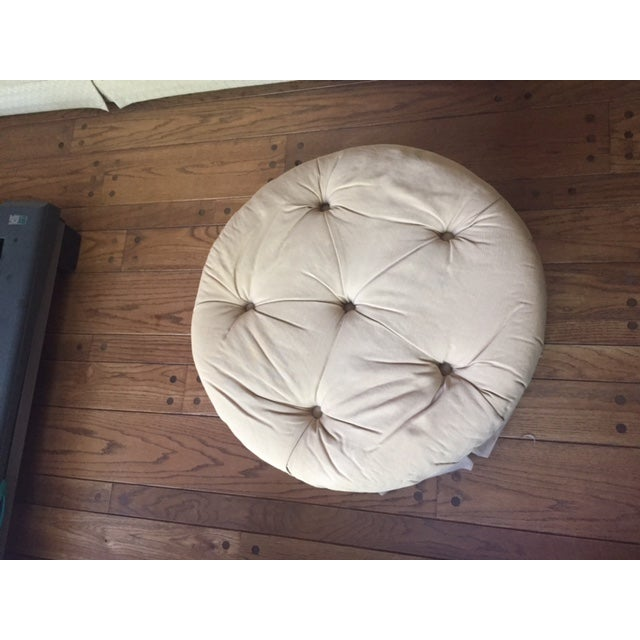 Image of Round Fabric Ottoman