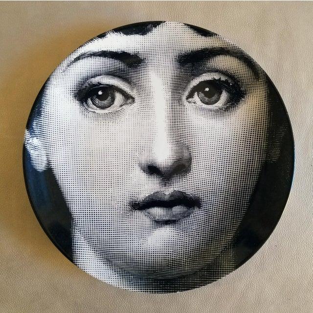 Piero Fornasetti Tema E Variazioni Porcelain Plate, #1 - Image 2 of 2