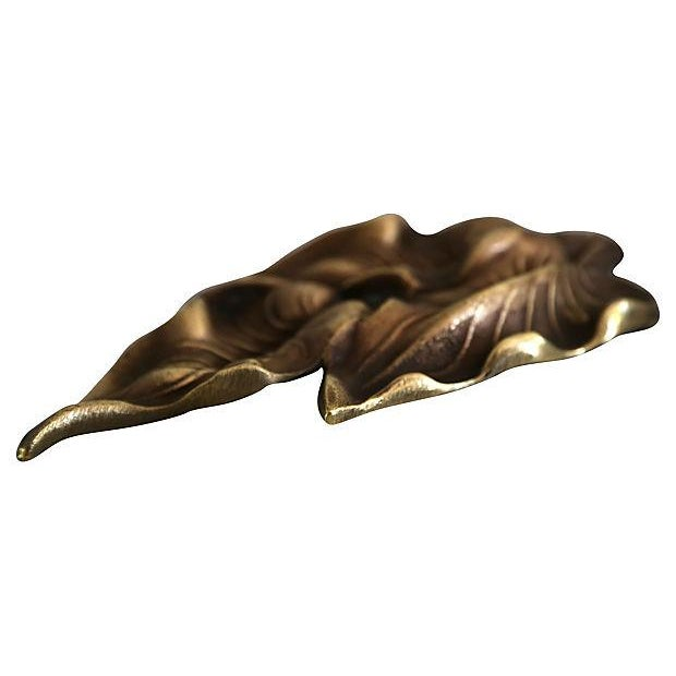 Image of Bronze Calla Leaf Paper Weight