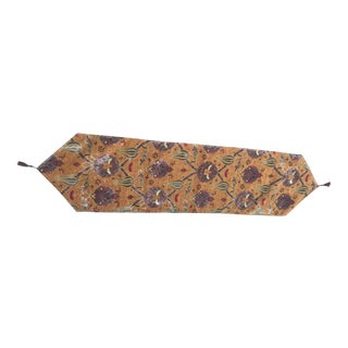 "Turkic Motif Mustard 68""x 17""Table Runner"