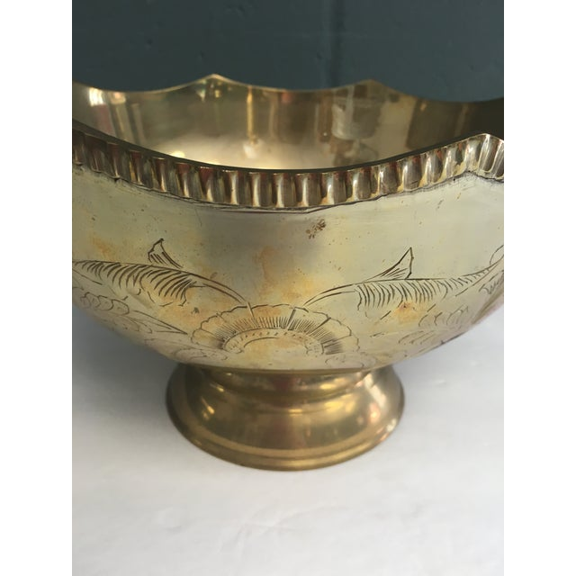Etched Brass Scalloped Bowl - Image 5 of 5