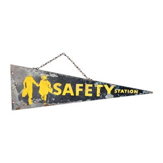 Antique Safety Station Sign