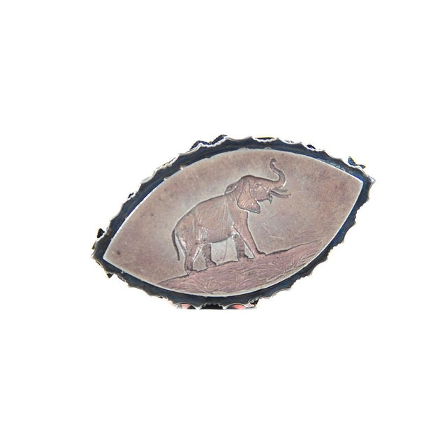 Image of 19th C. Russian Sterling Mounted Rose Quartz Seal