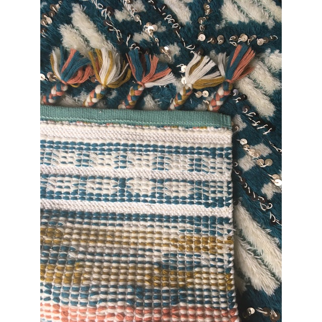 Moroccan Style Wool Sequin Tassel Rug/Wall Hanging - 3' x 5' - Image 5 of 6