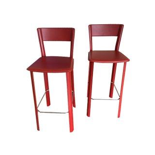 Allegro Red Barstools - Pair