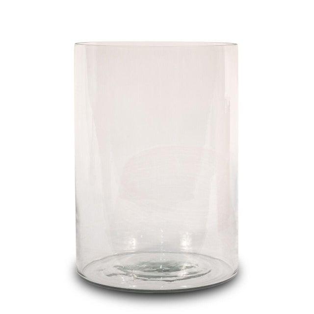 Sarreid Ltd Clear Glass Hurricane Vases - a Pair - Image 2 of 2