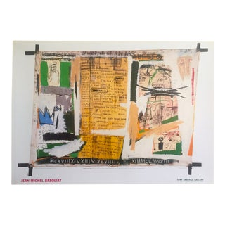 "Jean Michel Basquiat Rare 1999 Original Lithograph Print Exhibition Poster "" Jawbone of an Ass "" 1982"