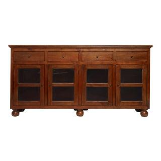 American Classical Teakwood Sideboard