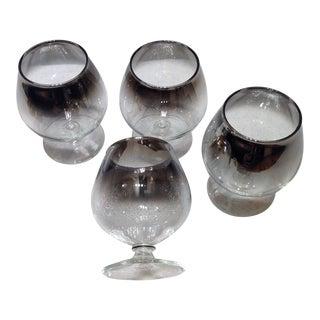 Vintage Silver Ombré Brandy Snifters - Set of 4