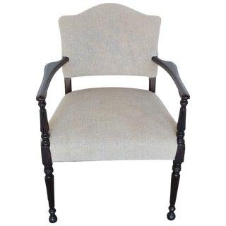 Vintage Linen Accent Chair