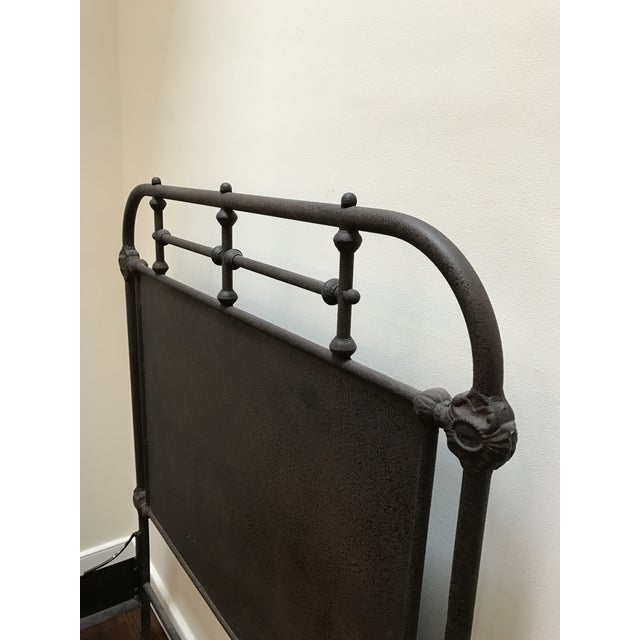 Image of Restoration Hardware Iron Panel Bedframe
