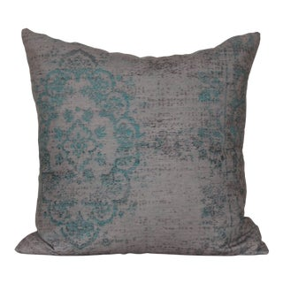 Turkish Turquoise Rug Print Pillow Cover