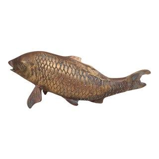 Vintage Brass Koi Fish