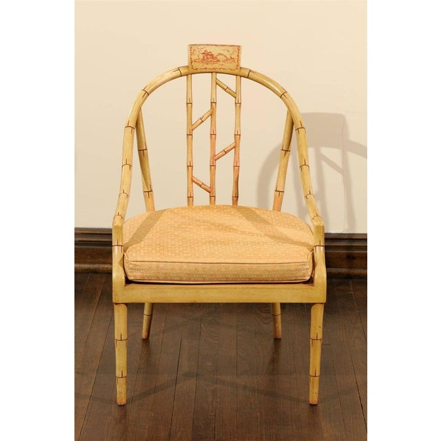 Hollywood Regency Bamboo Armchair - Image 7 of 7