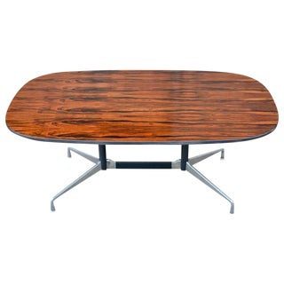 Eames Lozenge Shaped Aluminum Group Conference/Dining Table for Herman Miller