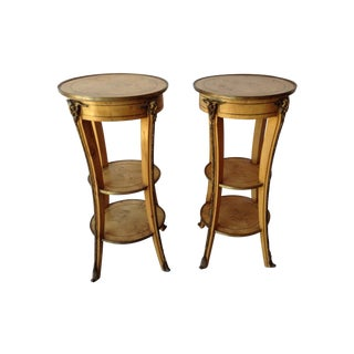 Burled Maple Side Tables - A Pair