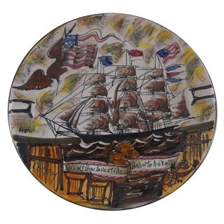 Italian Patriotic Ship Wall Plaque