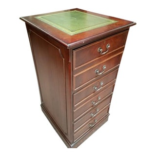 Vintage Mahogany Three-Drawer File Cabinet