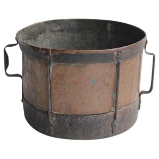 Antique Original English Copper & Iron Pot