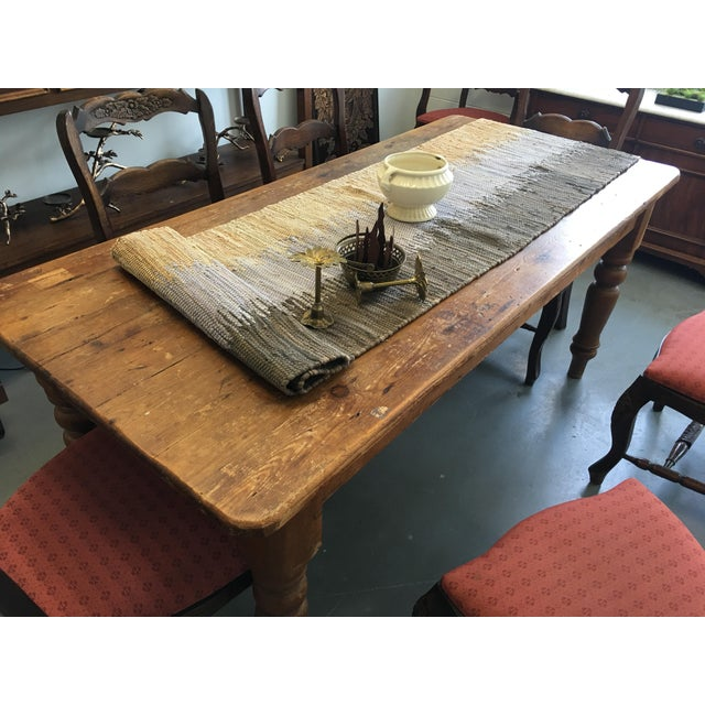 Image of Farm Table With Drawers