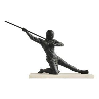 Vintage Bronze Hunter Sculpture