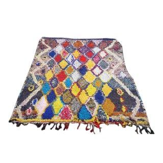Moroccan Boucherouite Rug - 5′ × 7′
