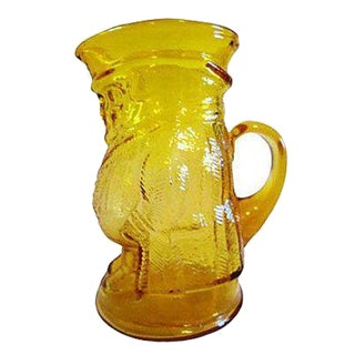 Mid-Century Yellow Glass Pitcher