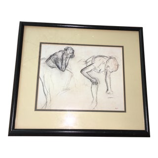 "Framed Degas ""Dancer"" Print"