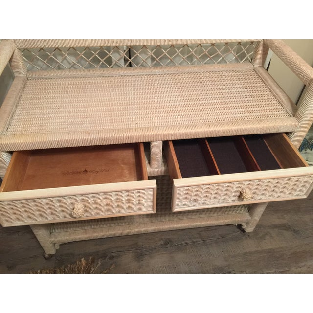 Henry Link Wicker Rolling Console Cart - Image 9 of 10