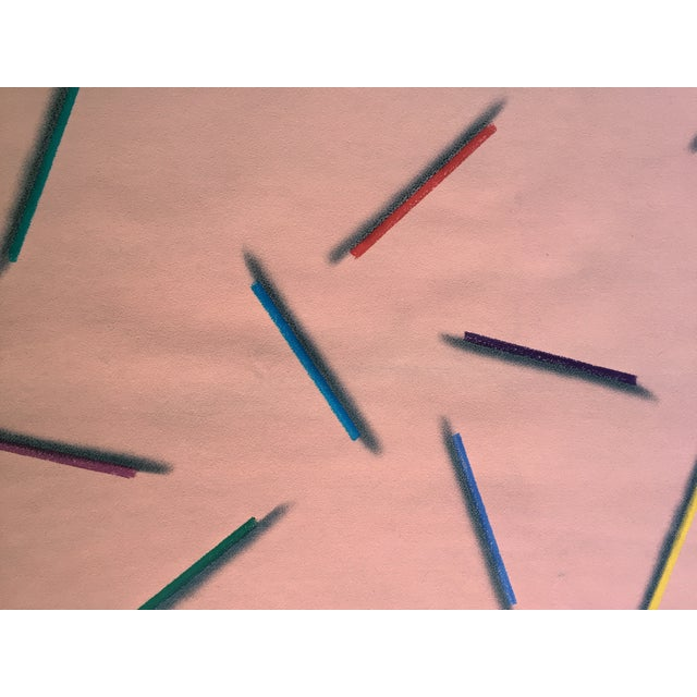 "Modernist Abstract Pastel ""Color Pencils"" - Image 6 of 7"