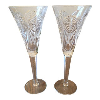 Waterford Crystal Toasting Flutes - A Pair
