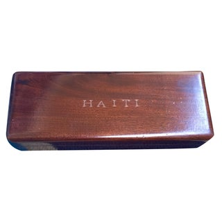 "Antique Drafting Pencil Box Marked ""Haiti"""