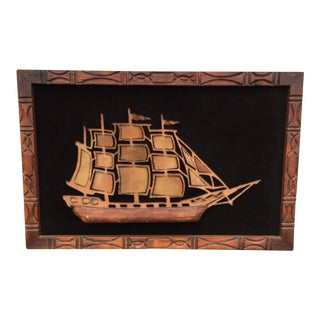 Witco Torch Cut Wall Ship Sculpture